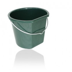 Hardly flat back plastic bucket 17L