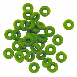 Rubber rings castrating bands, green, package of 100