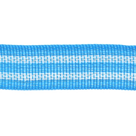 Blue and white polytape  1 1/2''