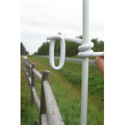 Insulator, pig-tail, tape, 1/2 round post, package of 25