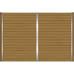 Standard solid (without grills) partition (10'-12')