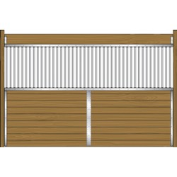 12' standard grilled partition