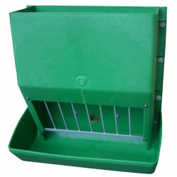 Heavy duty green plastic feeder