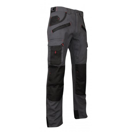 Two-toned trousers with kneepad pockets - Argile