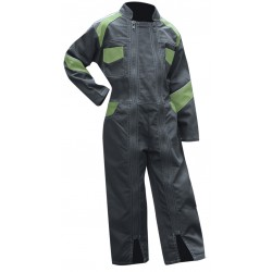 Coverall for Girl  - Navy Blue/Pink