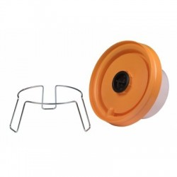 Metal holder with legs for chicken drinker