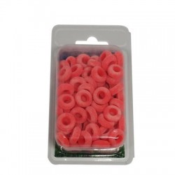 Rubber rings castrating bands, orange, package of 100